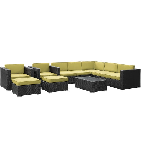 Shop Avia Outdoor Wicker Patio 10-piece Sectional Sofa Set ... on Safavieh Outdoor Living Granton 5 Pc Living Set id=54367