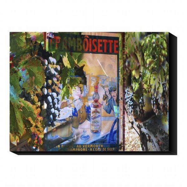 'Vintage Vino II' Canvas Art Print