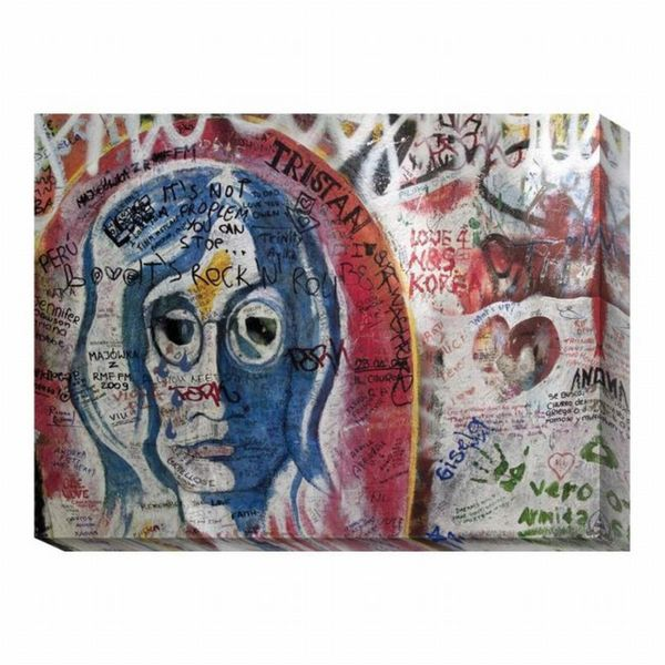 'Graffiti Prague I' Canvas Art Print