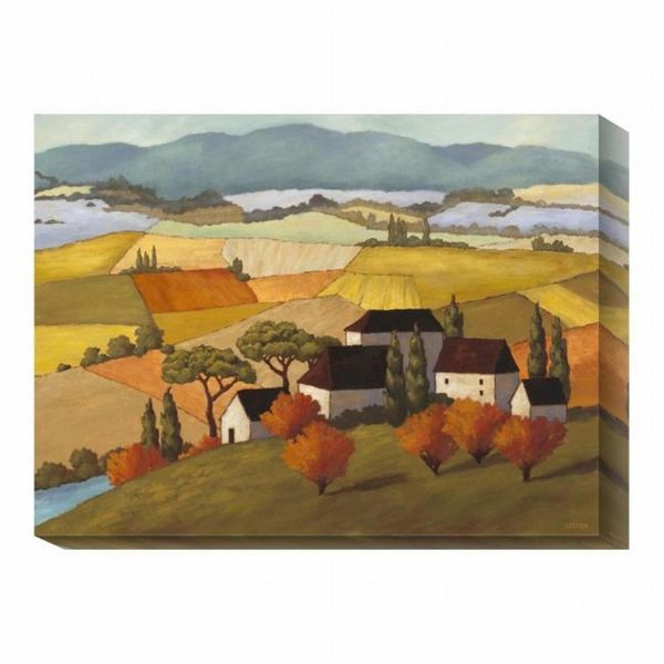 Kathryn Steffen 'Hilltop Village' Canvas Landscape Art