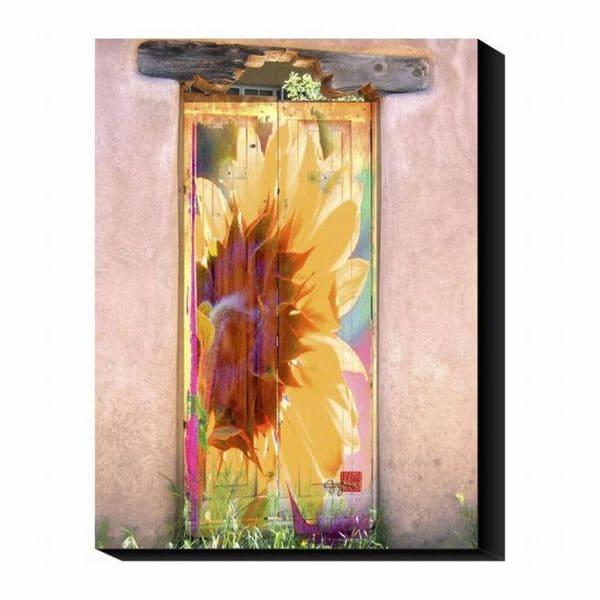 Suzanne Silk 'Sunflower Door' Canvas Art