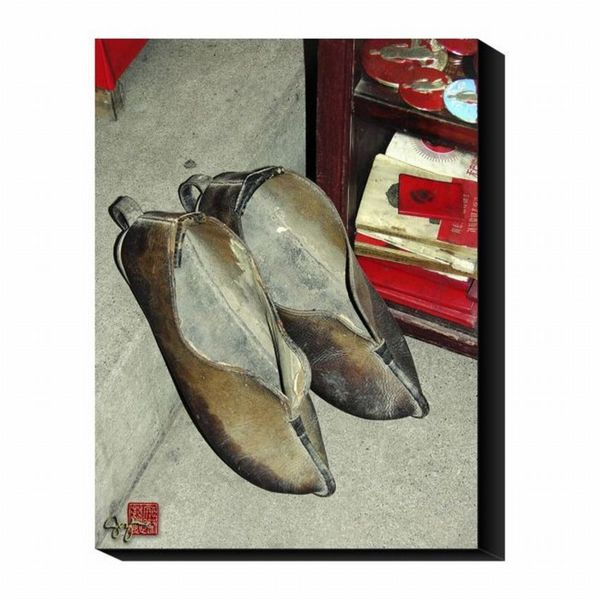 Suzanne Silk 'Slippers' Canvas Art