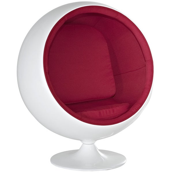 eero aarnio style kids ball chair in red free shipping today 14678743. Black Bedroom Furniture Sets. Home Design Ideas