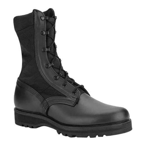 Men's Altama Footwear 3 LC Black Jungle Military Specification Boot Black Leather/Cordura