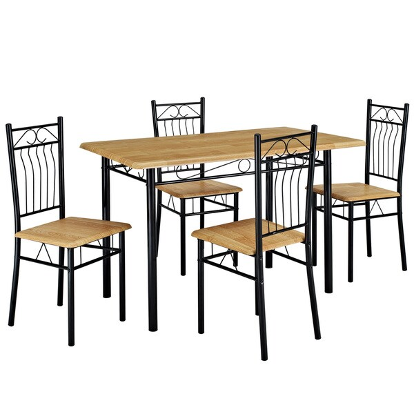 Nook Black Table and Four Chair Dining Set