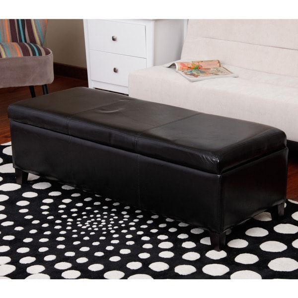 Warehouse of Tiffany Sharon Black Storage Bench