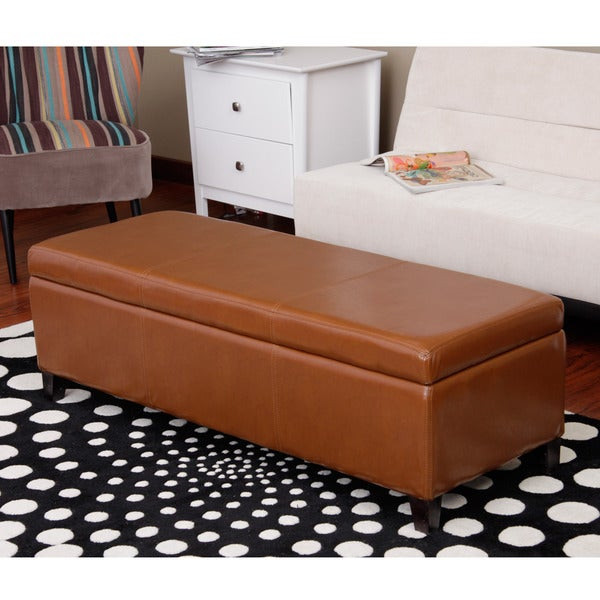 Warehouse of Tiffany Sharon Toffee Finished Storage Bench