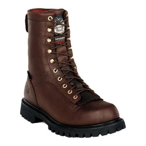 Men's Georgia Boot G80 8in Insulated Waterproof Boot Tumbled Chocolate Full Grain Leather
