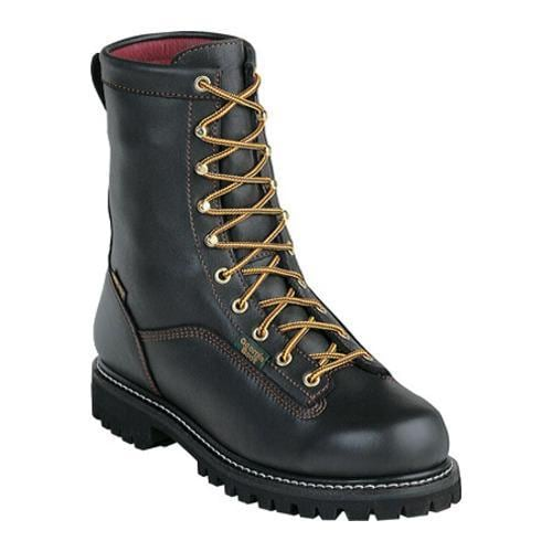 Men's Georgia Boot G83 8in Safety Toe Boot Black Full Grain Leather