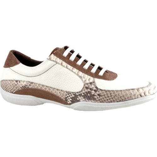 Men's GooDoo Luxury 005 White Calf/Brown Anaconda Print Leather