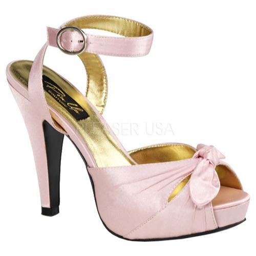Women's Pin Up Bettie 04 Baby Pink Satin