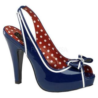 Women's Pin Up Bettie 05 Navy Blue Patent Leather (More options available)
