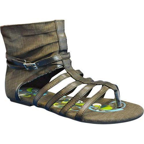 Women's Sun Luks by Muk Luks Gladiator Sandal Black