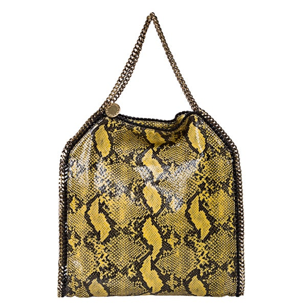 Stella McCartney 'Falaballa' Large Yellow Python Print Tote Bag