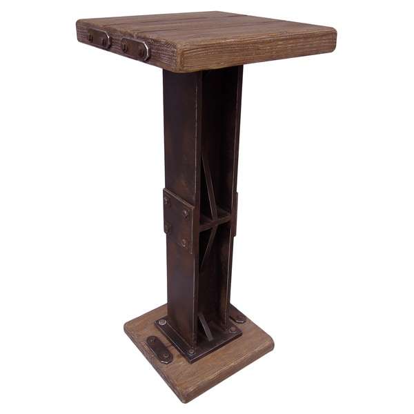 Shop Rustic Forge Bar height Square Bistro Table Free