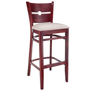 Peek A Boo Upholstered Cherry Counter Stool 16812988