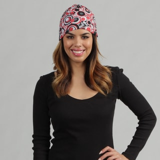 O3 Black and Red Circles 'Rag Tops' Convertible Headwear
