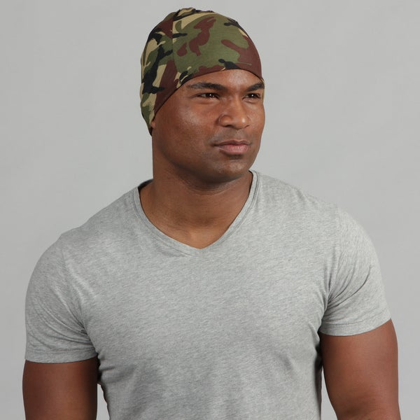 Obersee Adult Rag Tops Green Camo Convertible Headwear