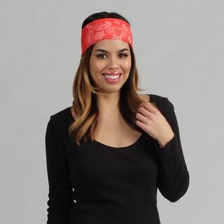 Obersee Adult Rag Tops Bandana Red Convertible Headwear