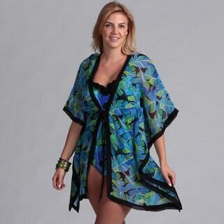 Swim by Chuck Handy Women's Plus 1-piece Swimsuit Kimono
