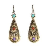 Handmade Antique Miao Design Earrings (China)