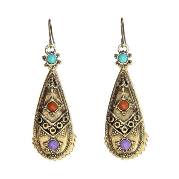 Handmade Antique Miao Design Earrings (China)
