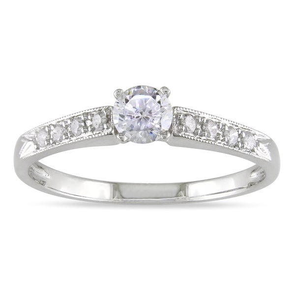 Miadora 14k White Gold 3/8ct TDW Diamond Ring
