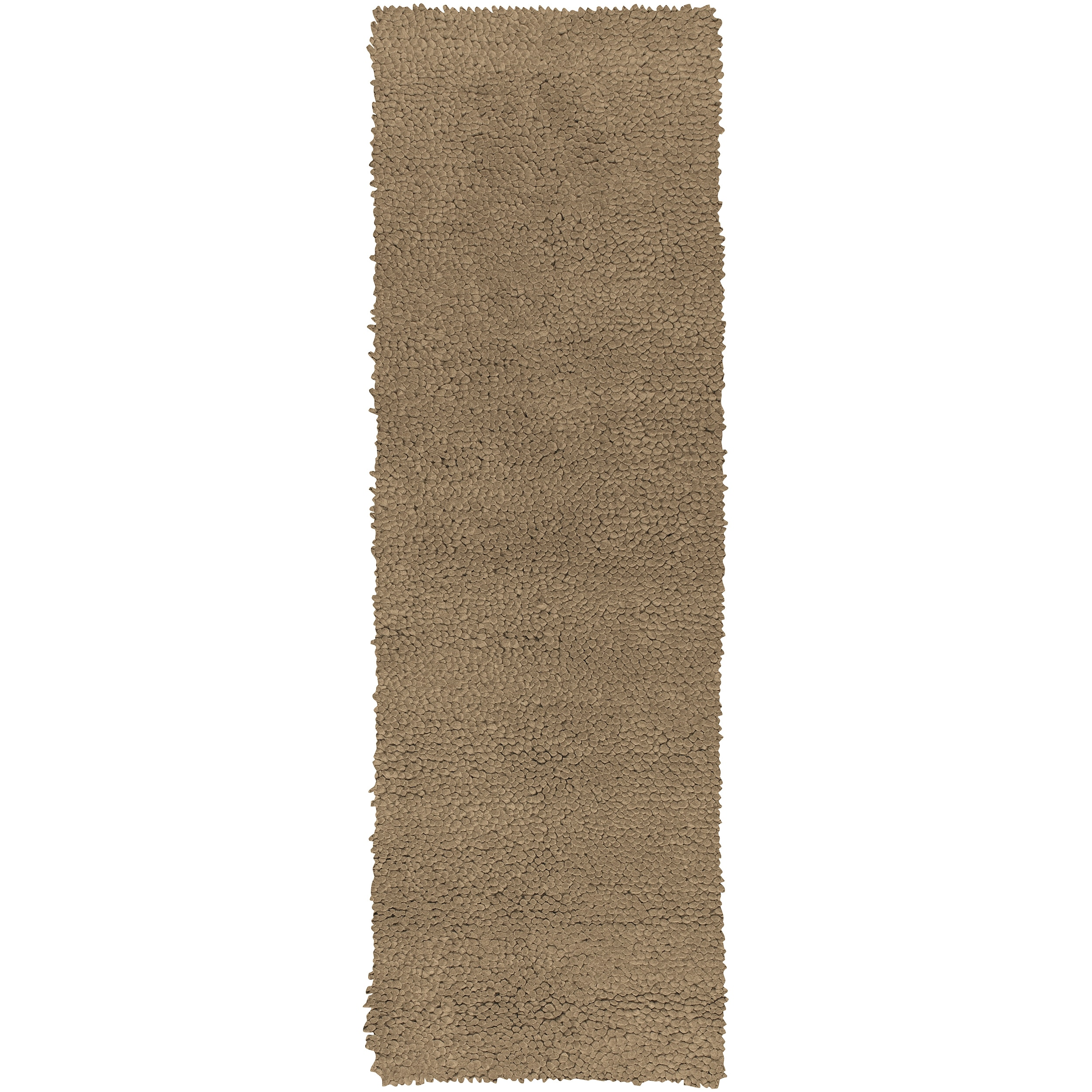 Hand-woven Ault Tan Wool Rug (4' x 10')