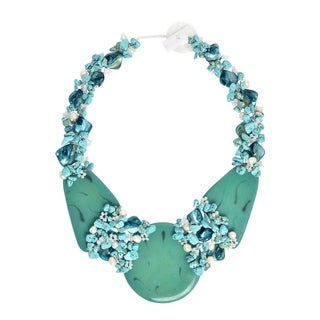Mystique Moon Stone Slab Statement Necklace (Philippines)