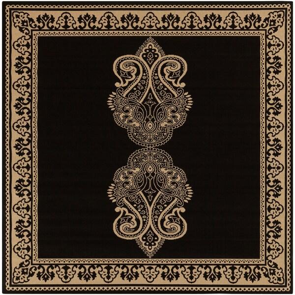 Icaria Dark Khaki Rug (8'9 Square)