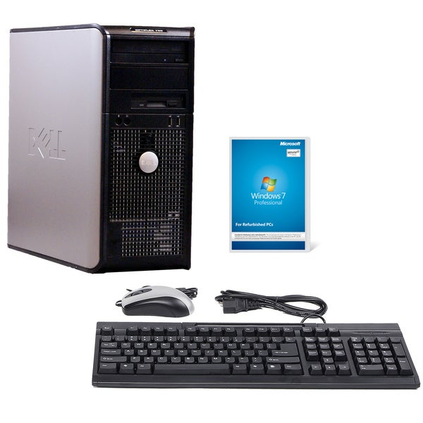 Dell Optiplex 760 Intel Core 2 Duo 2.33GHz CPU 4GB RAM 750GB HDD Windows 10 Pro Minitower Computer (Refurbished)