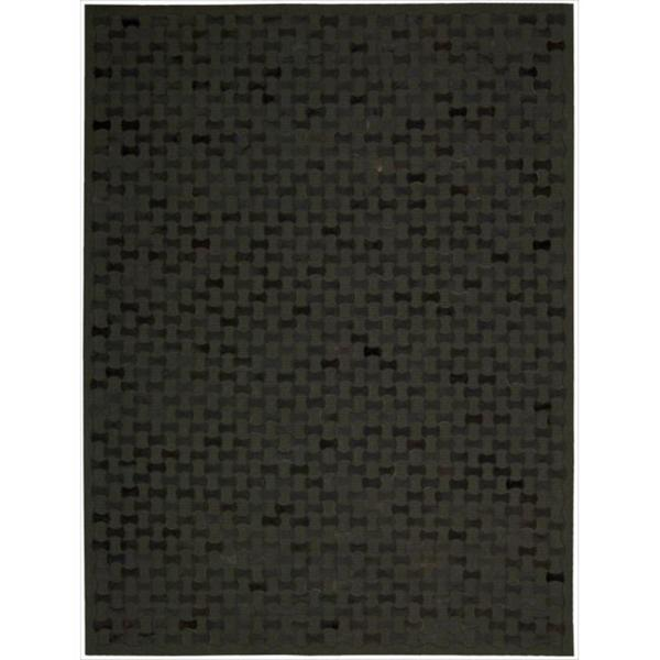 Joseph Abboud Chicago Black Area Rug by Nourison - 8' x 11'