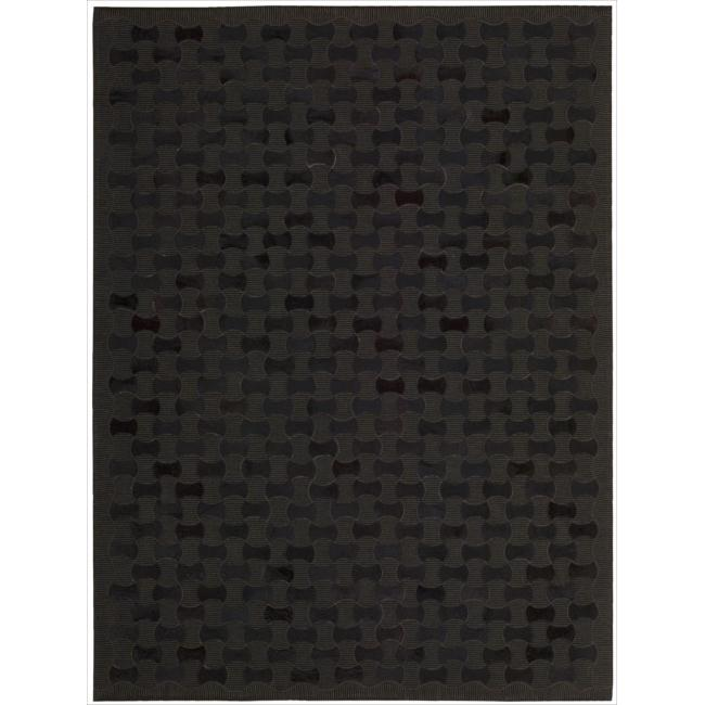 Joseph Abboud Chicago Black Area Rug by Nourison (5'3 x 7'5)