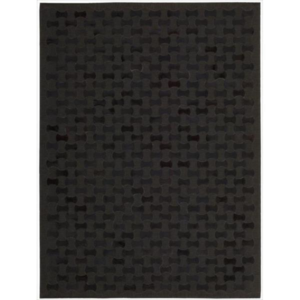 "Chicago Modern Black Area Rug by Nourison - 5'3"" x 7'5"""