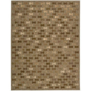 Joseph Abboud Chicago Brown Area Rug by Nourison (5'3 x 7'5)