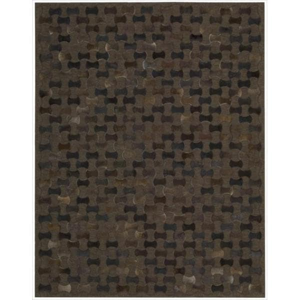 """Chicago Chocolate Area Rug by Nourison - 5'3"""" x 7'5"""""""