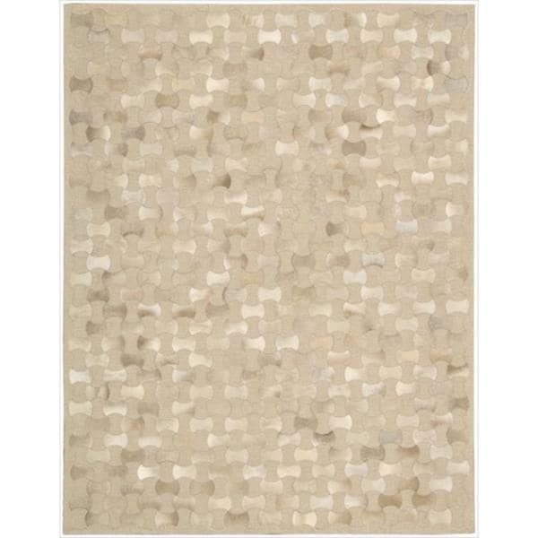 """Mina Victory Chicago Beige Area Rug by Nourison - 5'3"""" x 7'5"""""""
