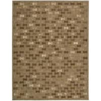 """Joseph Abboud Chicago Brown Area Rug by Nourison - 3'6"""" x 5'6"""""""