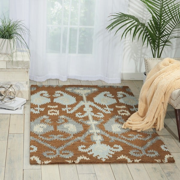 Nourison Hand-tufted Siam Mocca Rug (8' x 10'6)