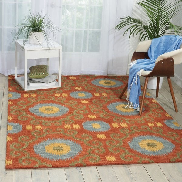 Nourison Hand-tufted Siam Rust Rug (8' x 10'6)
