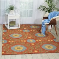 Nourison Hand-tufted Siam Rust Rug - 8' x 10'6