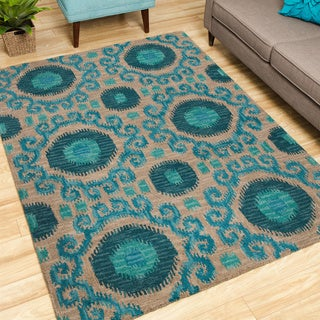 Nourison Hand-tufted Siam Rug (5'6 x 7'5)