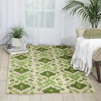 Nourison Hand-tufted Siam Green/ Ivory Rug - 3'6 x 5'6