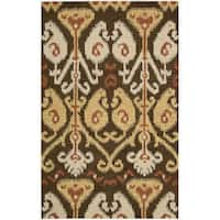 "Nourison Hand-tufted Siam Chocolate Rug - 3'6"" x 5'6"""