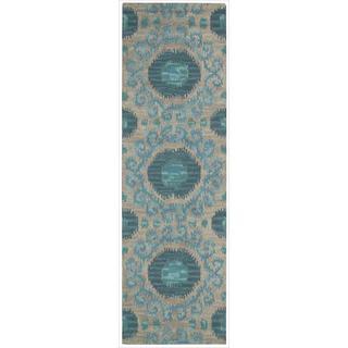 Nourison Hand-tufted Siam Rug (2'3 x 7'6)