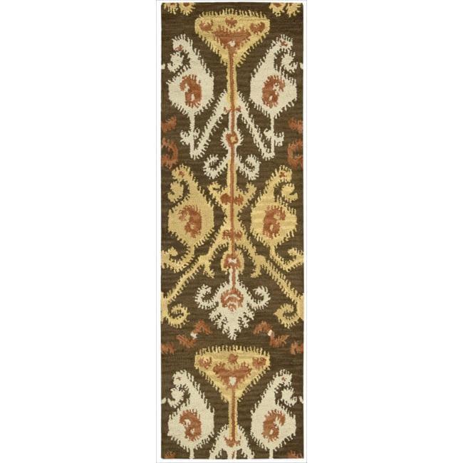 Nourison Hand-tufted Siam Chocolate Rug (2'3 x 7'6)