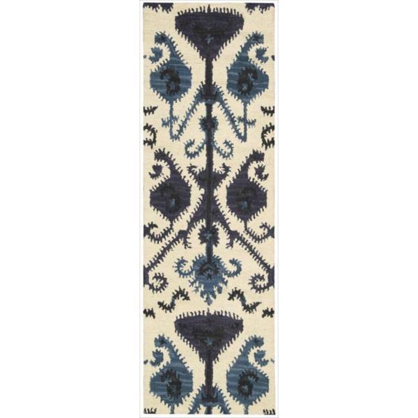 Nourison Hand-tufted Siam Beige Rug (2'3 x 7'6)