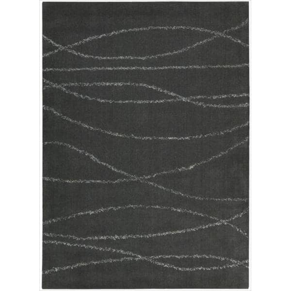Joseph Abboud Monterey Midnight Grey Area Rug by Nourison (7'9 x 9'9)