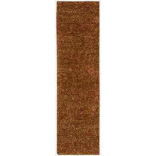 Nourison Fantasia Rust Shag Area Rug (2'3 x 8')
