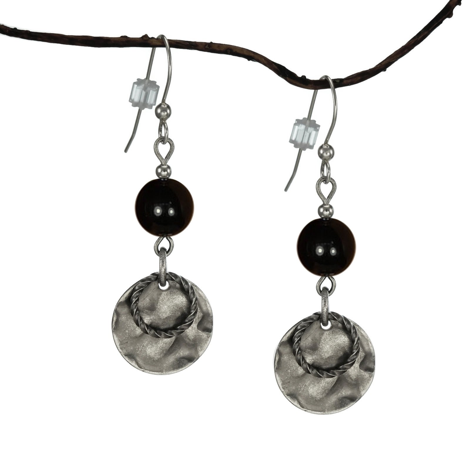 Jewelry by Dawn Black With Hammered Double Drop Earrings ...